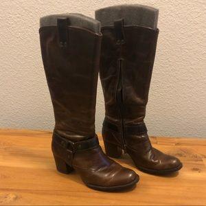 Born brown 'Susanne' calf boots